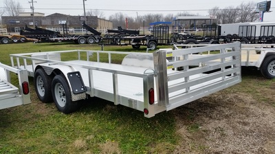 Quality Steel and Aluminum Open Utility Trailer with Aluminum Deck