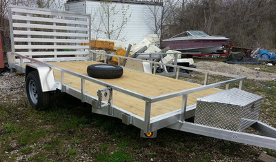 Quality Steel and Aluminum Open Utility Trailer with Wooden Deck