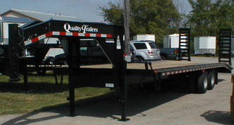 Quality Trailer Gooseneck open hauler with wooden deck
