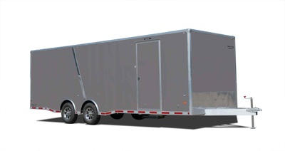 53 foot dual axle dream hauler in pewter with transition strip